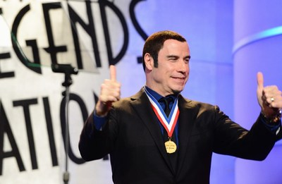 "John Travolta, the ""Official Ambassador of Aviation (R),"" will host the prestigious ""Living Legends of Aviation Awards,"" this Friday, January 16, 2015 at the Beverly Hilton ballroom in Beverly Hills, Calif."
