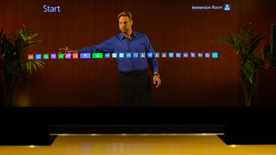 Holographic Presentations with Microsoft Lync, Skype and Power Point.  (PRNewsFoto/DVE Telepresence)