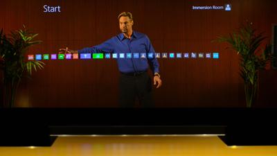 Holographic Presentations with Microsoft Lync, Skype and Power Point. (PRNewsFoto/DVE Telepresence) (PRNewsFoto/DVE TELEPRESENCE)