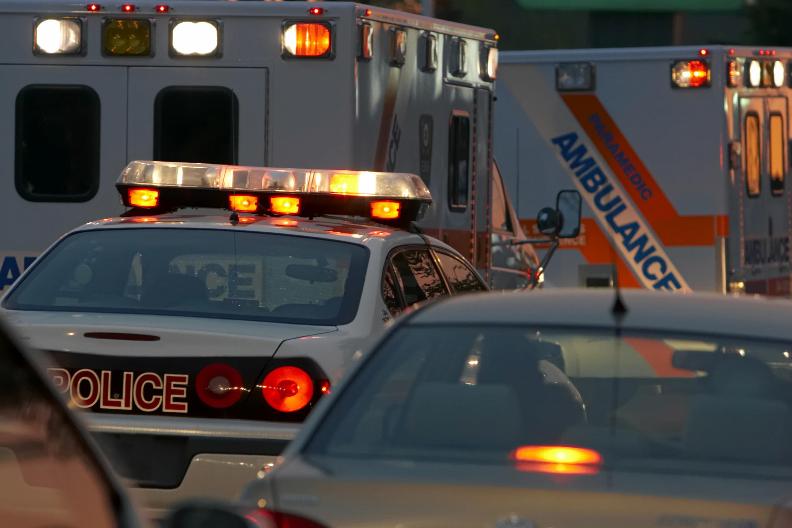 First responders on scene