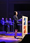 Huawei board director Ms. Chen Lifang at the Enterprise 2020 Summit in Brussels, Belgium (PRNewsFoto/Huawei)