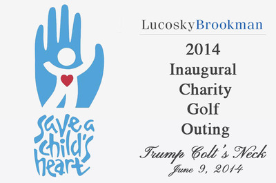 Lucosky Brookman 2014 Inaugural Charity Golf Outing benefitting the Save A Child's Heart Foundation - Trump National Golf Club, Colts Neck, New Jersey - June 9, 2014 - www.lucbrogolf.com. (PRNewsFoto/Lucosky Brookman LLP) (PRNewsFoto/LUCOSKY BROOKMAN LLP)