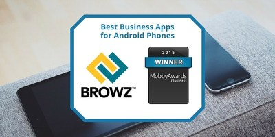 BROWZ for Client's app wins Mobby Awards Business Competition in the Android Smartphone - Enterprise category.