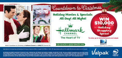 Valpak Partners with Hallmark Channel For Chance to Win $10,000 Holiday Cash.  (PRNewsFoto/Valpak)