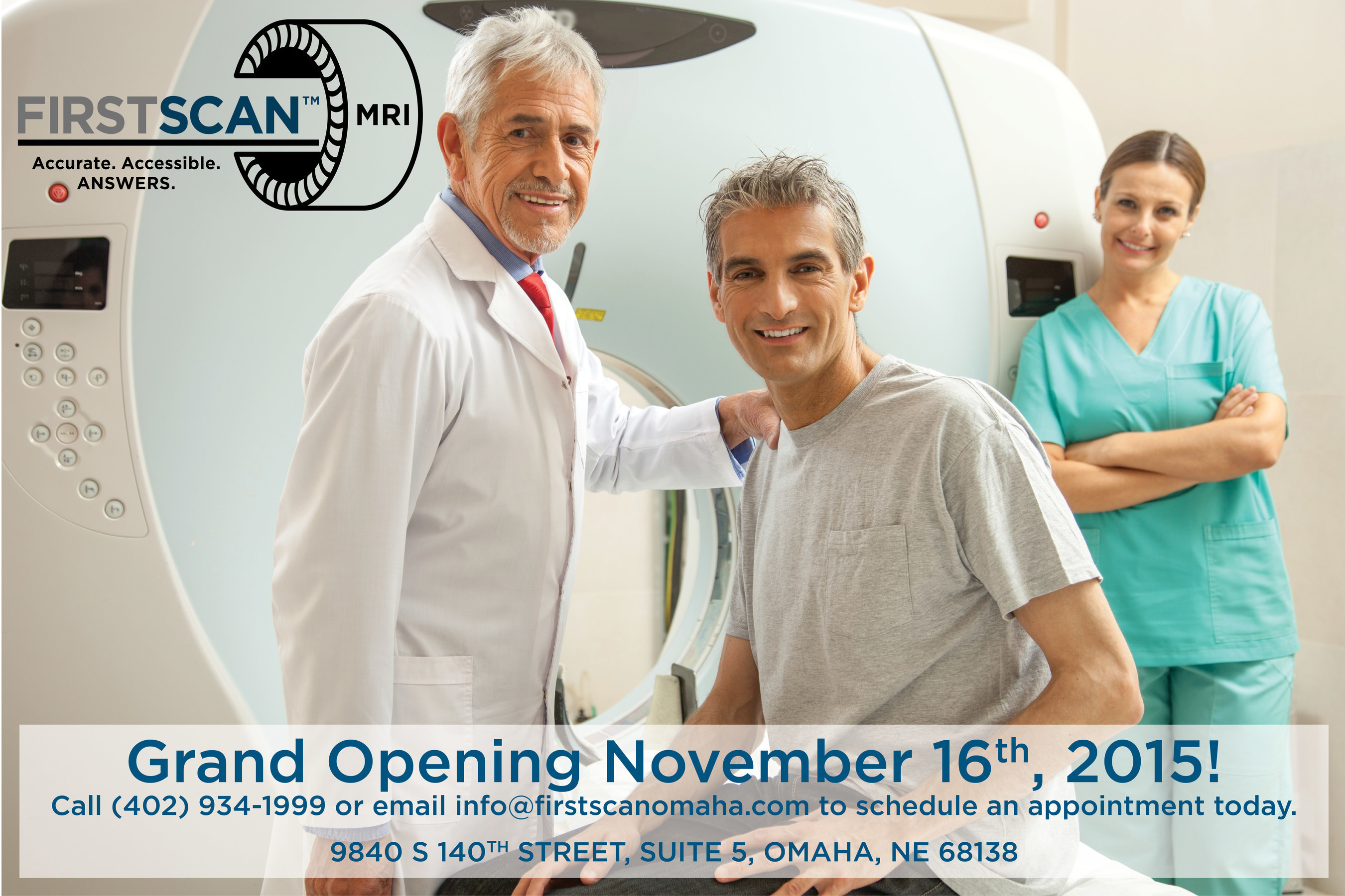 Omaha-based Company FirstScan introduces first and only clinic dedicated to MRI screening prostate cancer.