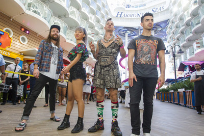 Cake by the ocean - literally! Multi-platinum selling band DNCE set sail for the Ultimate Friendsgiving on board the world's largest and most adventure-packed cruise ship, Royal Caribbean's new Harmony of the Seas.