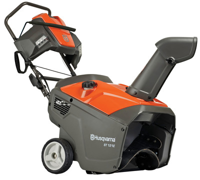 The new Husqvarna single stage snow thrower. Keep driveways and pathways clear around the house this winter!