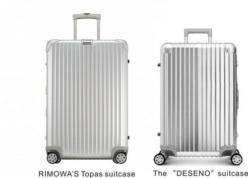 "Luggage manufacturer RIMOWA won legal proceedings against the proprietor of the ""Deseno"" brand, thus ..."