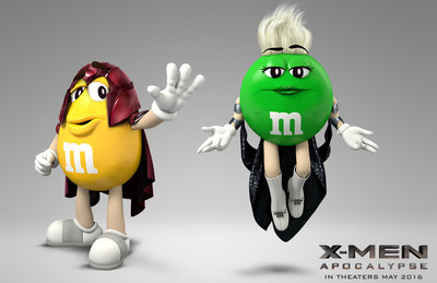 "Today, Mars Chocolate North America announced a partnership between M&M'S(R) Chocolate Candies and 20th Century Fox's upcoming motion picture event ""X-Men: Apocalypse."" The deal makes M&M'S the exclusive chocolate and confectionary promotional partner of the film, which opens Friday, May 27 and is considered one of the most widely anticipated movies of 2016. M&M'S Brand will leverage the partnership with a full 360-degree campaign that will feature its trademark M&M'S spokescandies, and include retail displays and packaging activations, TV and in-cinema advertising, consumer promotions, PR and digital media."