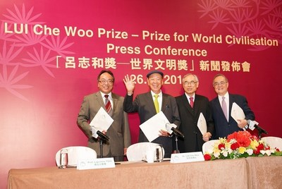 LUI Che Woo Prize - Prize for World Civilisation announces inaugural laureates. (PRNewsFoto/LUI Che Woo Prize Limited)