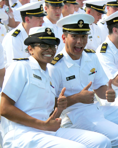 The U.S. Merchant Marine Academy (USMMA) is America's second best public regional college in the North and third best regional college according to the 2014 U.S. News and World Report rankings. USMMA has moved up the rankings from last year for undergraduate engineering programs in America, and is now ranked the 22nd best. The U. S. Merchant Marine Academy was the first federal service academy to admit women in 1974. The number of women in the Class of 2013 is the highest in ten years at 16 percent. (PRNewsFoto/U.S. Merchant Marine Academy) (PRNewsFoto/U.S. MERCHANT MARINE ACADEMY)