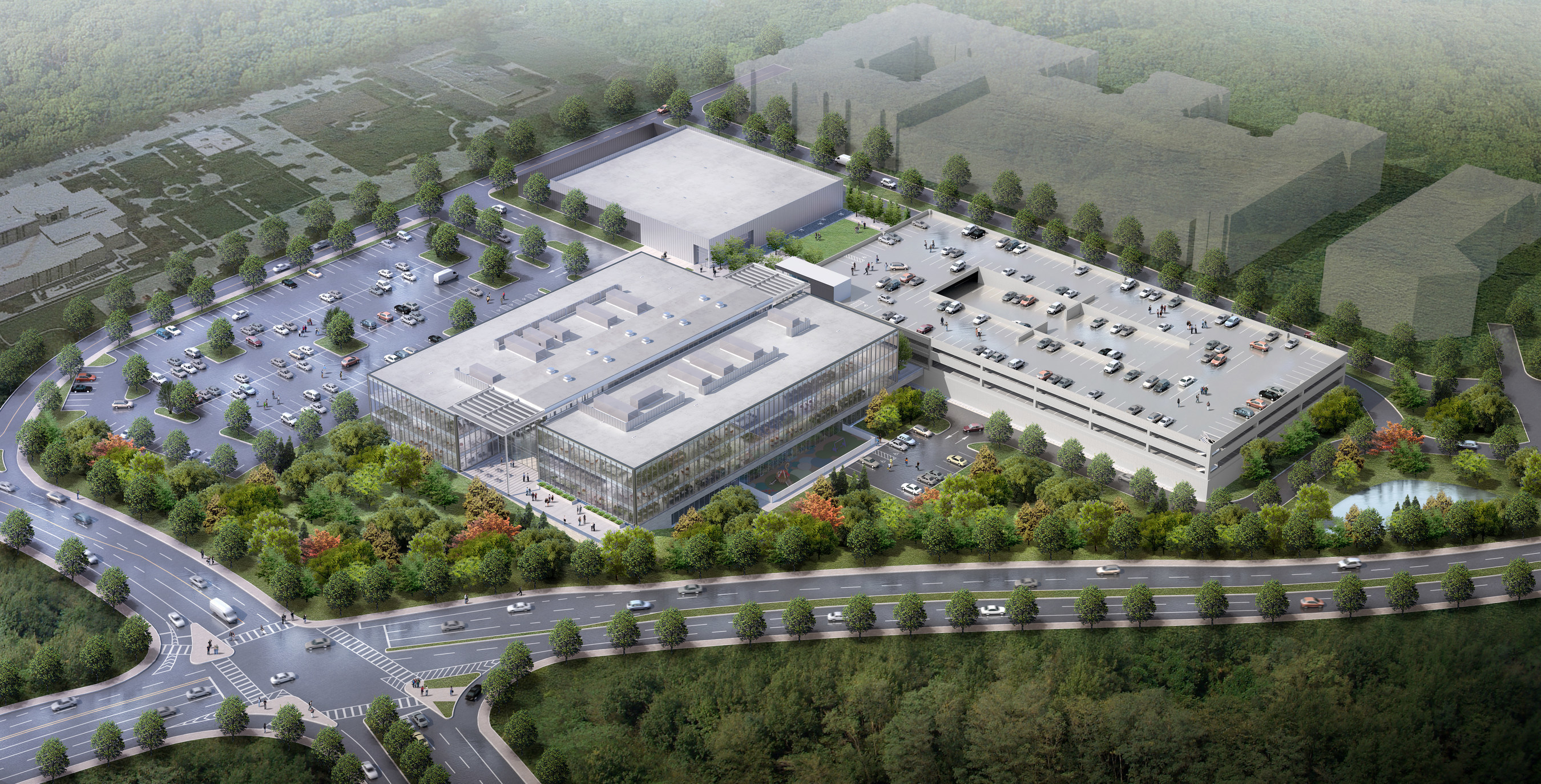 Rendering Of Mercedes Benz Headquarters In Metro Atlanta