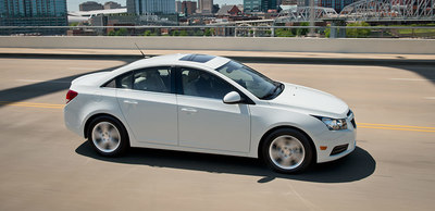 The 2014 Chevy Cruze Turbo Diesel can travel up to 46 mpg on the highway. (PRNewsFoto/Bill Stasek Chevrolet)