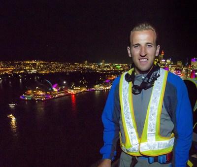 Harry Kane at the summit of Sydney Harbour Bridge Destination NSW