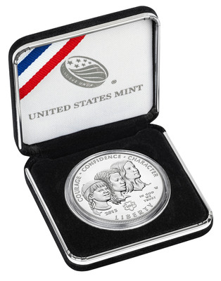 2013 Girl Scouts of the USA Centennial Silver Dollar Goes On Sale February 28th.  (PRNewsFoto/Girl Scouts of the USA)