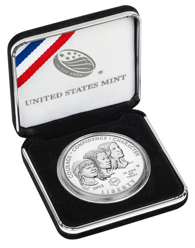 2013 Girl Scouts of the USA Centennial Silver Dollar Goes On Sale February 28th.  (PRNewsFoto/Girl Scouts of ...