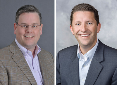 Brad Johnson (L) has been appointed executive vice president of operational strategy and shared services for Sedgwick; Darryl Hammann (R) has been named executive vice president of disability and absence management operations for Sedgwick.  (PRNewsFoto/Sedgwick Claims Management Services, Inc.)