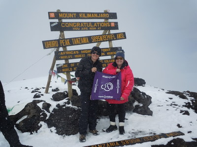 Mt. Kilimanjaro, Tanzania, November 29, 2015 - Brenda Kieran (pictured right), a newborn intensive care unit nurse from Providence, Rhode Island, and nurse colleague Katie Baker summited Mt. Kilimanjaro, Tanzania, the tallest mountain in Africa, on Nov. 17, World Prematurity Day, to honor babies born premature and benefit the March of Dimes. Worldwide, 15 million babies are born preterm, and nearly one million die due to early birth or its complications.November is Prematurity Awareness Month and is supported by millions, including corporate partner the Anthem Foundation. Support the March of Dimes mission to prevent premature birth visit marchofdimes.org/donation.