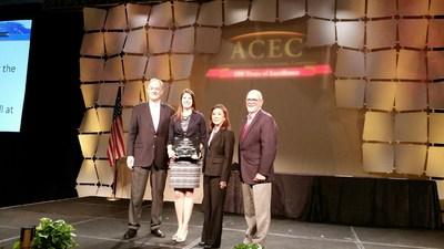 From Left to right: ACEC President David Raymond, Bridget Osborn, Committee of Fellows Chair June Nakamura, ACEC Chairman Peter Strub