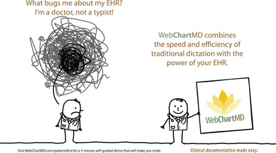 WebChartMD makes EHR-based clinical documentation easier and faster for physicians.  (PRNewsFoto/WebChartMD)