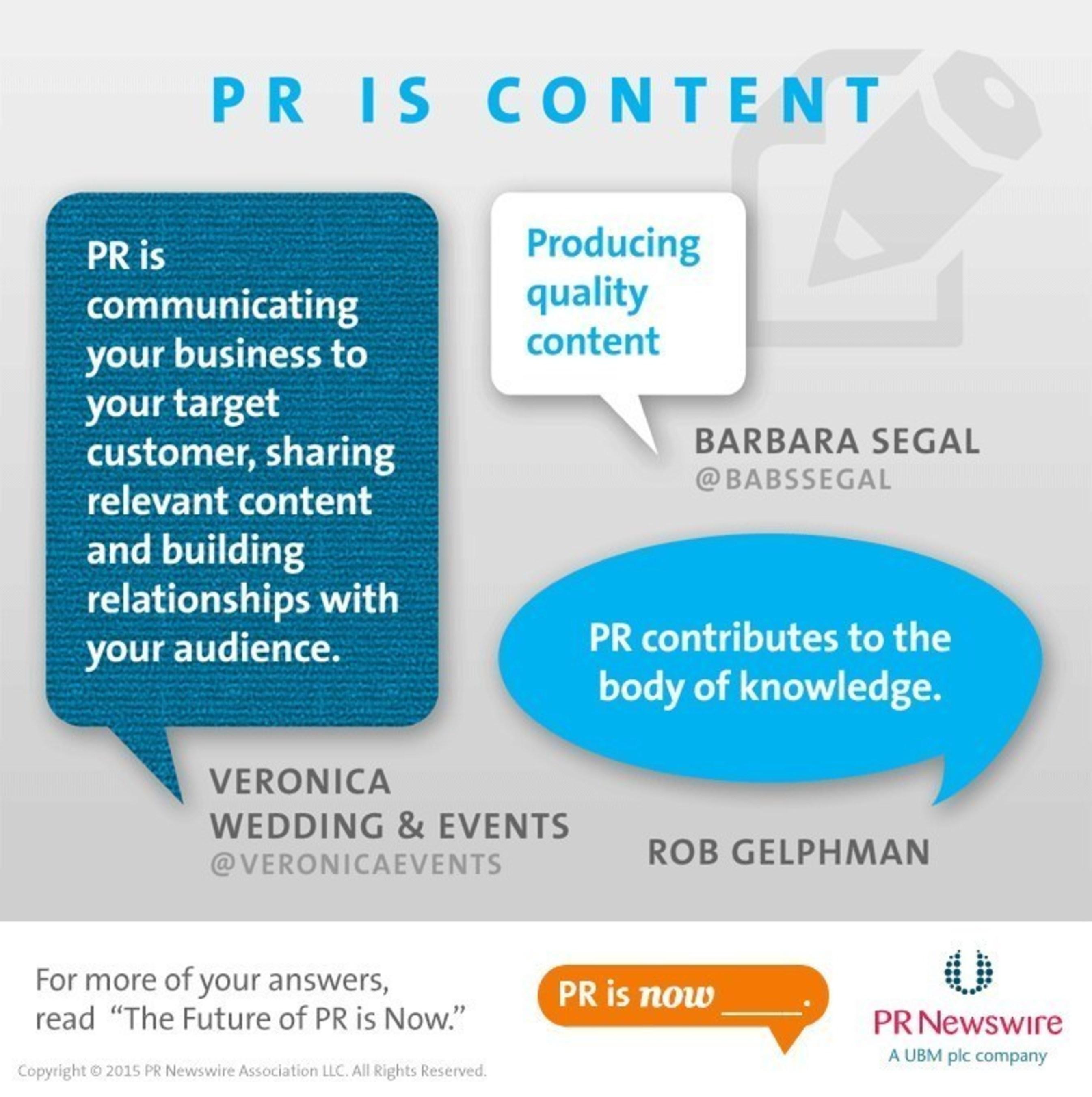 What do you think #PRisNow? Let us know @PRNewswire