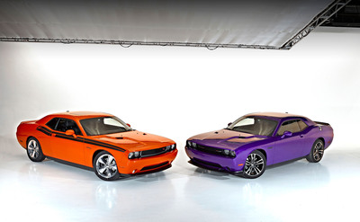 2013 Dodge Challenger R/T Classic (left) with Challenger SRT8 392 (right). (PRNewsFoto/Chrysler Group LLC) (PRNewsFoto/CHRYSLER GROUP LLC)