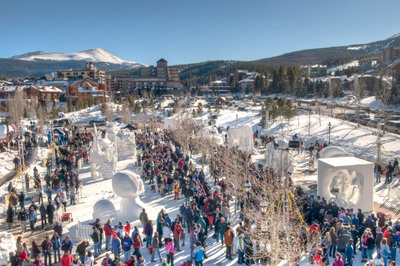 The International Snow Sculpture Championships, this year set for Jan. 24-28, gives rise to a temporary outdoor sculpture gallery in the center of downtown Breckenridge, Colo. (GoBreck.com / Carl Scofield)