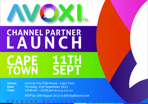 Channel Partner Launch - Cape Town - 11th September 2013.  (PRNewsFoto/AVOXI)