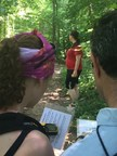Using high-tech GPS equipment, participants hunt down hidden treasures during a Wounded Warrior Project geocaching event.