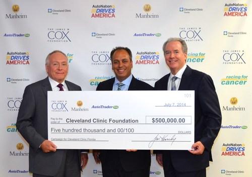 Cox Enterprises' President & CEO John Dyer, Cleveland Clinic Florida's President Dr. Wael Barsoum, ...