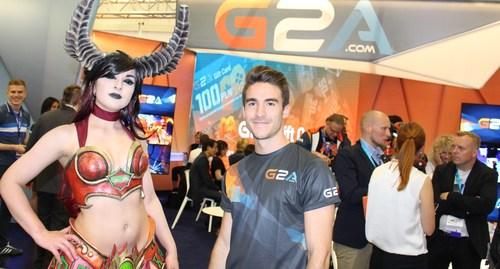 The G2A Gamescom stand, a popular place at Gamescom 2016 (PRNewsFoto/G2A.com)