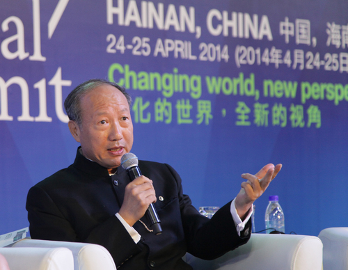 HNA Group Chairman Chen Feng Gives Speech at The 2014 World Travel & Tourism Council (PRNewsFoto/Hainan Airlines Co., LTD)