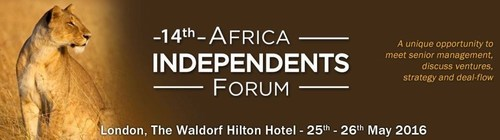 The 14th Africa Independents Forum 2016, held 25-26th May is being held in London at the Waldorf Hilton, and ...