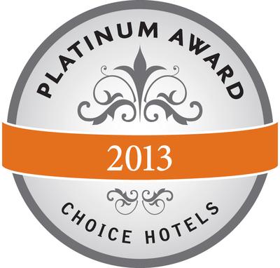 Choice Hotels Platinum Award (PRNewsFoto/Choice Hotels International, Inc)