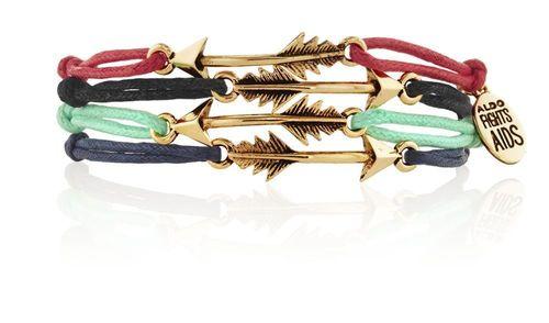 ALDO fights AIDS bracelet (PRNewsFoto/ALSO)