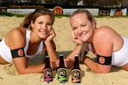 Beer, Bikinis & The Olympics. Fordham American Beer sponsor Britain's Zara Dampney and Shauna Mullin