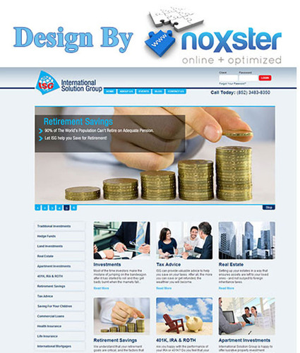 ISG Old Vs. New website. Designed by Noxster a professional web design and SEO Company.  (PRNewsFoto/Noxster LLC)