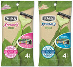 Schick Xtreme3 uses recycled materials to debut a new eco-friendly razor. (PRNewsFoto/Schick Wilkinson Sword)