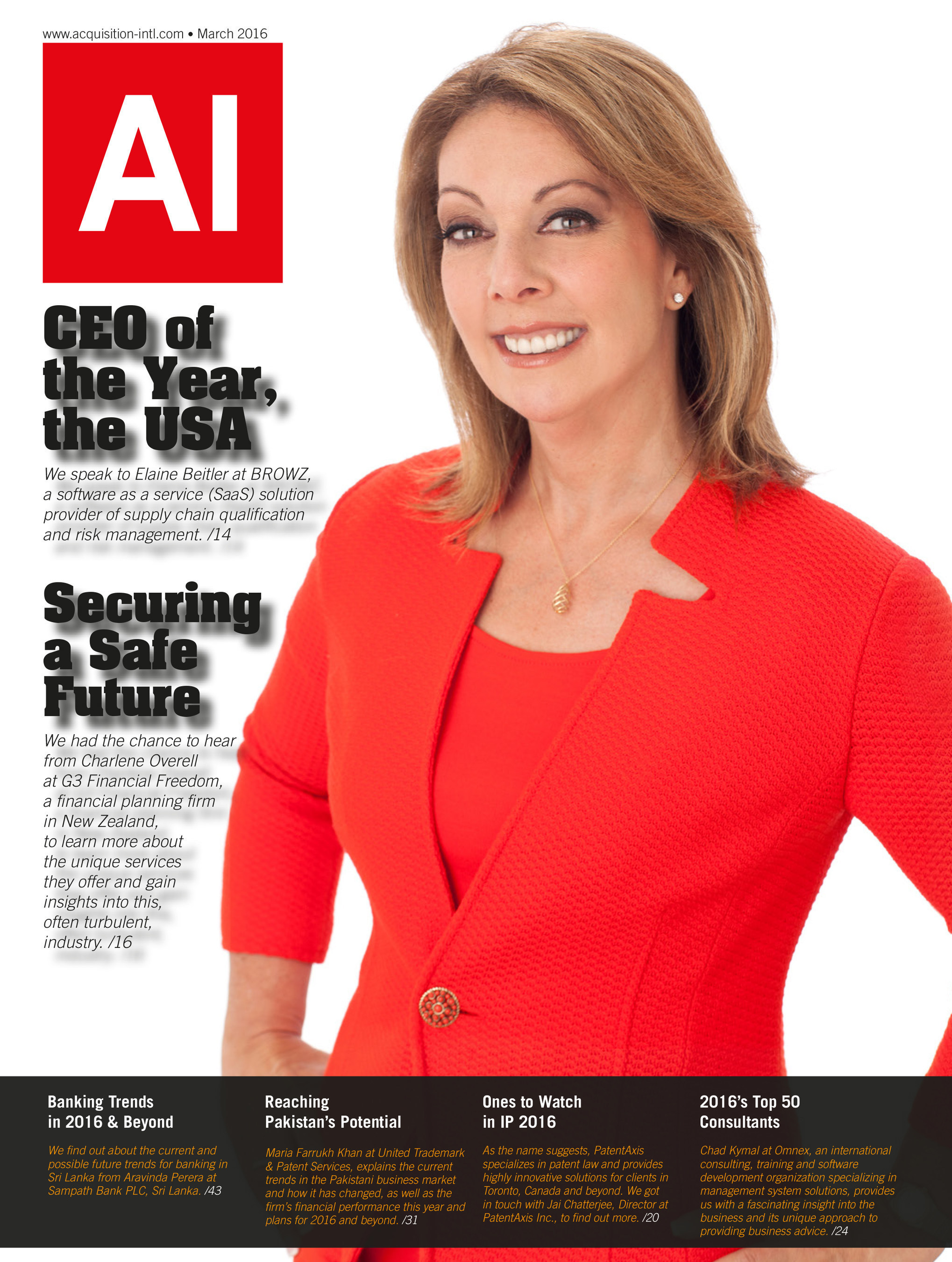 Elaine Beitler, CEO of BROWZ, has been named Overall CEO of the Year by Acquisition International. Learn more at www.BROWZ.com.