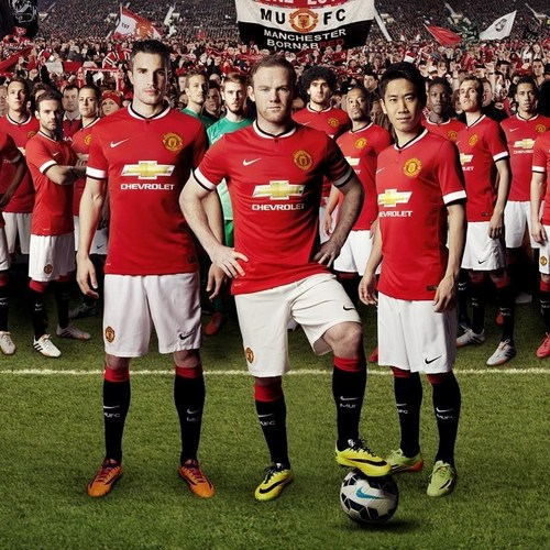 "Manchester United will wear shirts with the Chevrolet logo for the first time when the team meets the L.A. Galaxy on July 23 at the Rose Bowl. Before then, fans can go to ChevroletFC.com for a chance to ""virtually"" wear the uniform, then share the images through social media. The shirt is only the fifth design worn since the team was founded in 1878. (PRNewsFoto/Chevrolet)"