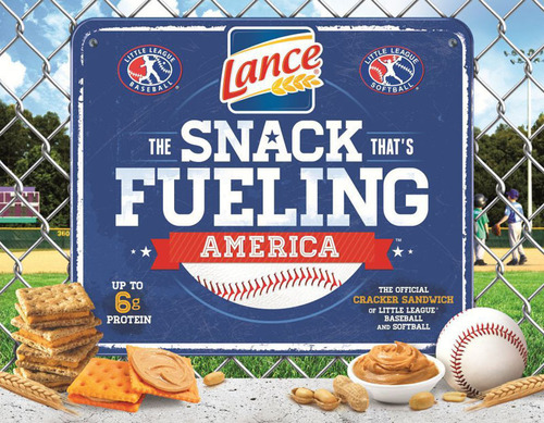 Lance Sandwich Crackers Teams Up with Little League to Fuel Young Athletes in 2014. (PRNewsFoto/Lance(R) ...