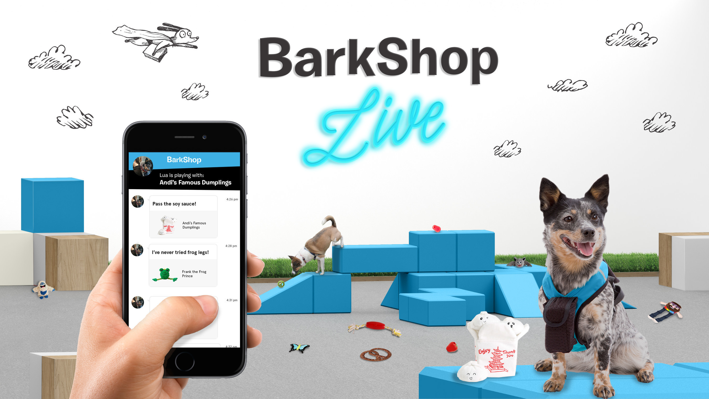 """Bark & Co, the company behind BarkBox, today announced BarkShop Live, a week-long experiment of a new retail experience where dogs do the shopping themselves. Running June 6-12, 2016 in Manhattan, the by-appointment-only """"pup-up"""" shop uses RFID technology to help humans track what their dog really wants to take home."""