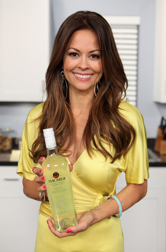 Actress and entrepreneur Brooke Burke hosts the launch of BACARDI CLASSIC COCKTAILS HAND-SHAKEN DAIQUIRI.  (PRNewsFoto/Bacardi U.S.A., Inc., Chelsea Lauren/WireImage)