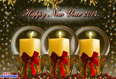 Happy New Year. (PRNewsFoto/123Greetings.com, Inc.) (PRNewsFoto/123GREETINGS.COM, INC.)