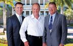 Nova Southeastern University's 2014 Entrepreneur Hall of Fame Inductees James Donnelly, Manuel Medina and Guy Harvey.  (PRNewsFoto/Nova Southeastern University)