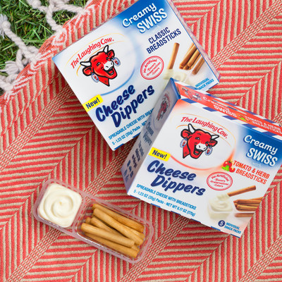The Laughing Cow(R) has introduced its newest innovation, Cheese Dippers, a portable, individually portioned snack featuring The Laughing Cow's rich, creamy cheese and crunchy breadsticks. The brand's new offering addresses consumers' increasingly on-the-go lifestyles and appeals to adults and children alike. Each serving provides an excellent source of calcium, delivers 4 grams of protein, and contains no artificial flavors, colors or preservatives. These factors combined with great taste and convenience make Cheese Dippers an ideal snack choice to savor on the go.