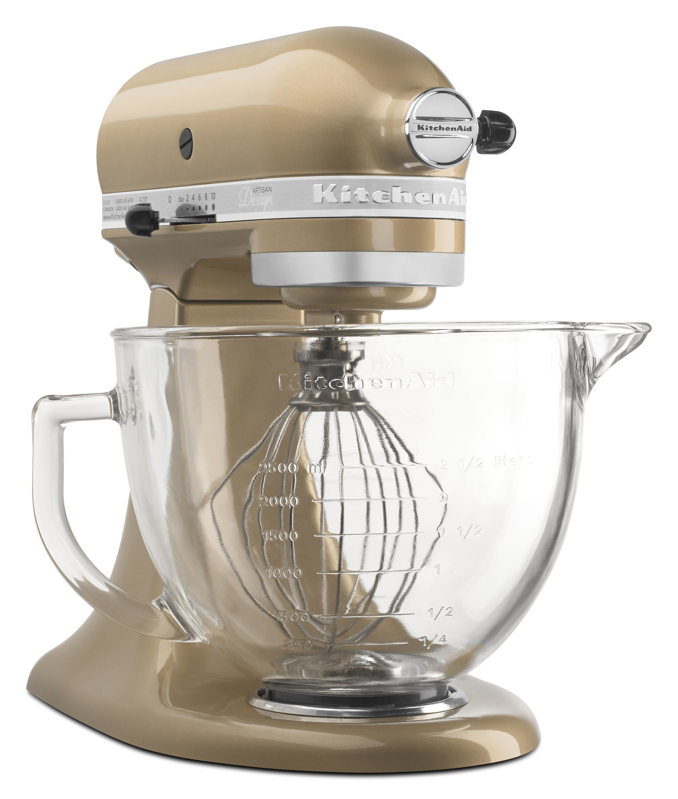 KitchenAid Artisan Design Series Stand Mixer in Champagne Gold
