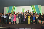 Recipients of the Asia Responsible Entrepreneurship Awards 2014 Southeast Asia posing with Enterprise Asia's president William Ng (PRNewsFoto/Enterprise Asia)