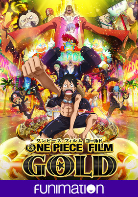 """One Piece Film: Gold"" key art image. Courtesy Funimation Films"