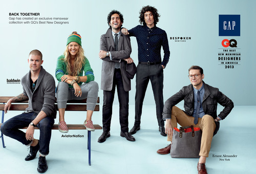 GAP LAUNCHES SECOND LIMITED-EDITION COLLECTION WITH GQ BEST NEW MENSWEAR DESIGNERS IN AMERICA.  (PRNewsFoto/Gap Inc.)